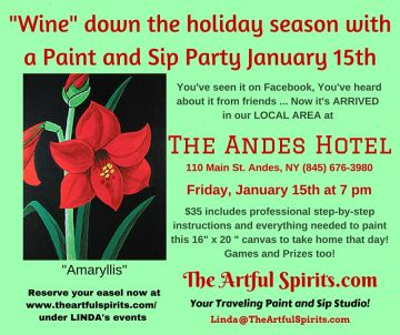 "1.15, 7PM, PAINTING PARTY ""THE ARTFUL SPIRITS"""