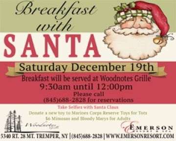 Breakfast with Santa at Woodnotes Grille