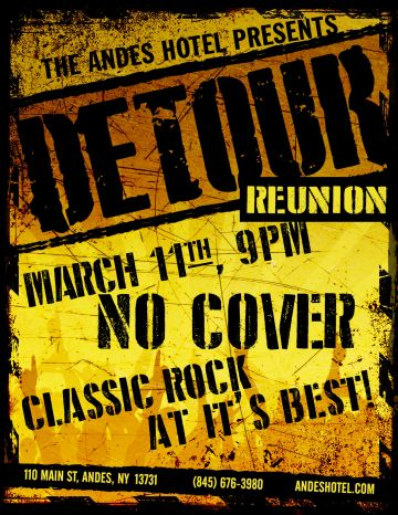 3.11 – LIVE MUSIC BY DETOUR – THE REUNION-9pm-ST PATTY'S DAY PARTY