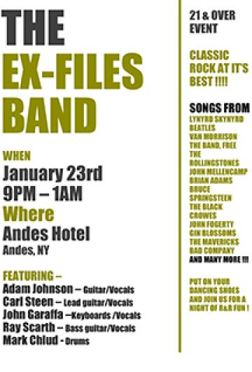 Live Music by The X Files